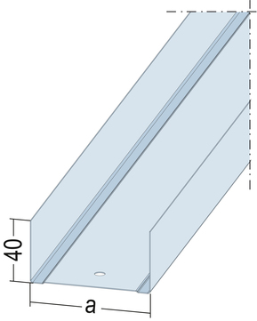 PROTEKTORWERK Profil UW 40x 75x40 mm/400 mm 4,00 m Verzinkt