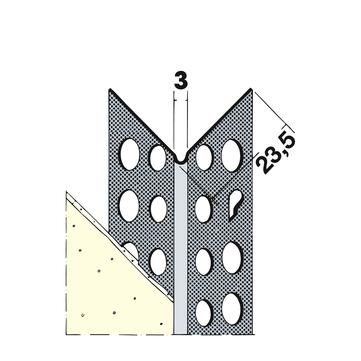 PROTEKTORWERK Kantenprofil 9078 2,5 m 50 Stück je Bund Aluminium