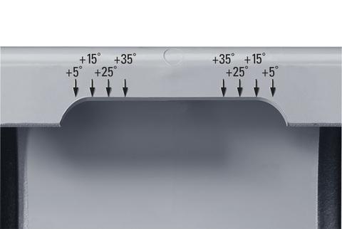 PROTEKTORWERK 5-teilige Dehnungsausgleichsband halbrund zum Klemmen Grau
