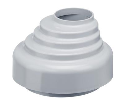 PROTEKTORWERK 8-teilige Rohrübergangsstück 75/100 mm Regenfallrohr Kanalrohrmuffe Grau