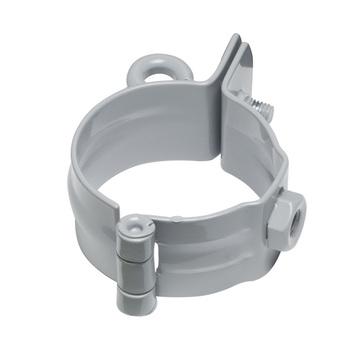 PROTEKTORWERK 6-teilige Rohrschelle rund 100 mm ohne Schlagstift mit 6-kant Mutter Braun