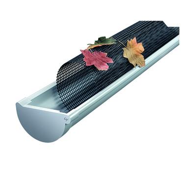 PROTEKTORWERK Laubfanggitter 3,0 m 7+8-teilig für Nennweite 100 mm und Nennweite 125 mm Schwarz