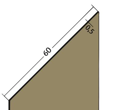 PROTEKTORWERK Fugenband 3325 60 mm PVC FB 60 Schwarz
