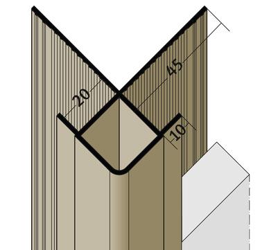PROTEKTORWERK Außenkante 3501 2,5 m mit Schnittkantenüberdeckung KA20 mit Schnittkantenüberdeckung Ziegelrot