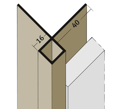 PROTEKTORWERK Außenkante 3506 3,0 m ohne Schnittkantenüberdeckung K16 ohne Schnittkantenüberdeckung Schwarz