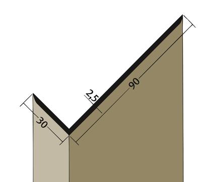 PROTEKTORWERK Winkelprofil 3518 30x90 mm 2,5 m Schwarz