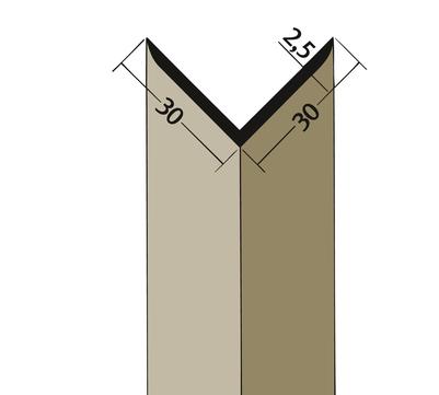 PROTEKTORWERK Winkelprofil 3524 30x30 mm 2,5 m Schwarz