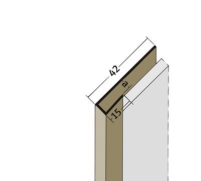 PROTEKTORWERK Abschlussprofil 3527 2,5 m AP27 Plattenstärke bis 27mm Braun