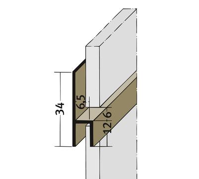 PROTEKTORWERK Fugenprofil 3534 horizontal 2,5 FH 6 H-Profil Plattenstärke 6mm Weiß