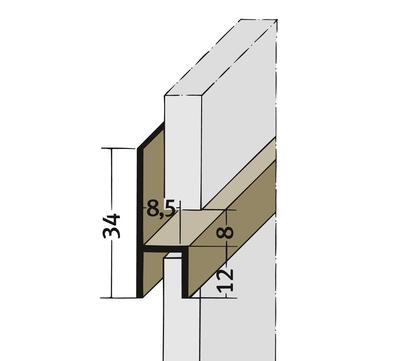 PROTEKTORWERK Fugenprofil 3535 horizontal 2,5 FH 8 H-Profil Plattenstärke 8mm Weiß