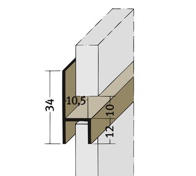 PROTEKTORWERK Fugenprofil 3536 horizontal 2,5 FH 10 H-Profil Plattenstärke 10mm Weiß
