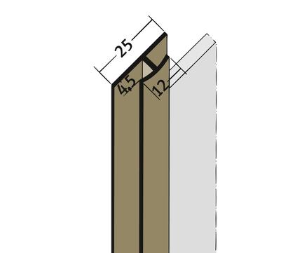 PROTEKTORWERK Fugenprofil 3542 vertikal 2,5 FDT 4 Doppel-T-Profil 4mm Weiß