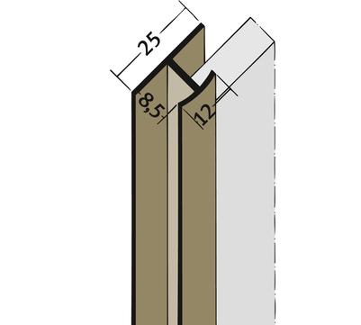 PROTEKTORWERK Fugenprofil 3546 vertikal 2,5 FDT 8 Doppel-T-Profil 8mm Braun