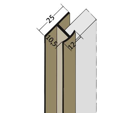 PROTEKTORWERK Fugenprofil 3547 vertikal 2,5 FDT 10 Doppel-T-Profil 10mm Weiß