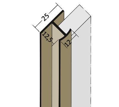 PROTEKTORWERK Fugenprofil 3548 vertikal 2,5 FDT 12 Doppel-T-Profil 12mm Weiß