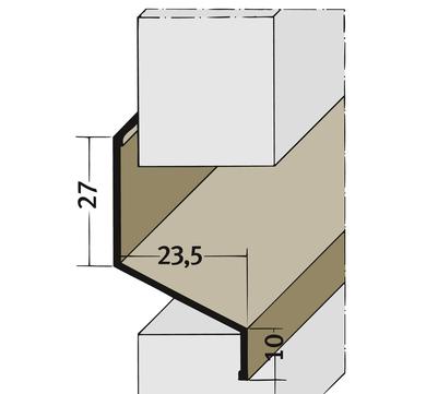 PROTEKTORWERK Fugenprofil 3554 horizontal 2,5 FH 6 H-Profil Plattenstärke 6mm Schwarz
