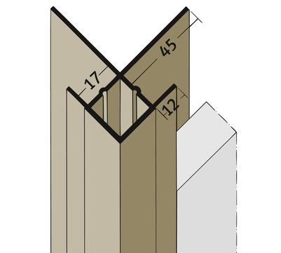 PROTEKTORWERK Außenkante 3555 2,5 m mit Schnittkantenüberdeckung KA17 mit Schnittkantenüberdeckung Schwarz