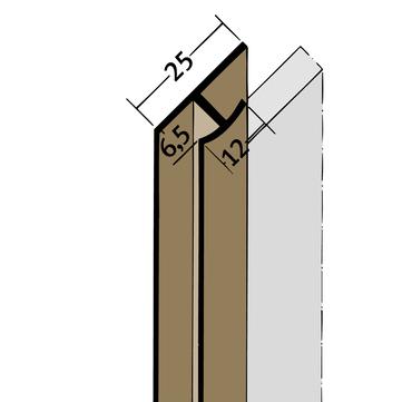 PROTEKTORWERK Fugenprofil 3557 vertikal 2,5 FDT 6 Doppel-T-Profil 6mm Weiß