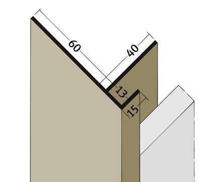 PROTEKTORWERK Anschlussprofil 3561 2,5 m mit Schnittkantenüberdeckung PAA13/60 mit Schnittkantenüberdeckung Schwarz