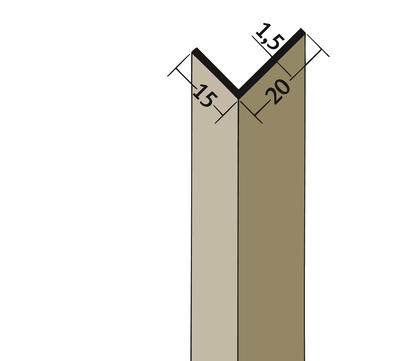 PROTEKTORWERK Winkelprofil 3578 20x15 mm 2,5 m Schwarz