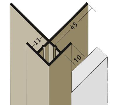 PROTEKTORWERK Außenkante 3624 2,5 m mit Schnittkantenüberdeckung KA11 mit Schnittkantenüberdeckung Ziegelrot