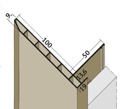PROTEKTORWERK Anschlussprofil 3669 3,0 m mit Schnittkantenüberdeckung PAN13,6/100 mit Schnittkantenüberdeckung Schwarz