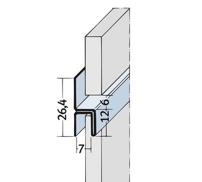 PROTEKTORWERK Fugenprofil 9048 horizontal 2,5 FH 6 H-Profil Plattenstärke 6mm Schwarz