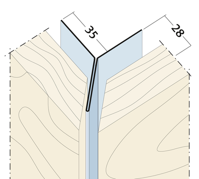 PROTEKTORWERK Kantenprofil 9438 Y-Form 2,5 mm Alu ohne Schnittkantenüberdeckung Natur