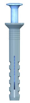 REISSER Nageldübel 5,0x40mm blau verzinkt 100 Stück im Super-Pack Senkkopf vormoniert