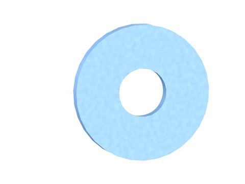 REISSER Bauscheibe Form R 13,5x44x4mm blau verzinkt 50 Stück im Super-Pack DIN440