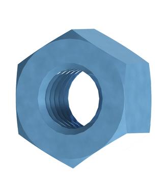 REISSER Sechskantmutter M 8 blau verzinkt 100 Stück im Super-Pack DIN934