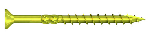 REISSER Holzbauschraube Q500 8,0x200mm Teilgewinde gelb verzinkt 50 Stück im Paket Flachsenkkopf Fräsrippen TX