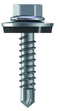 REISSER Bohrschraube RP-R 6-kant 5,5x25mm 500 Stück im Paket Refabo Plus Dichtscheibe 16mm Bimetall