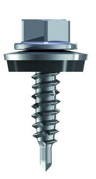 REISSER Bohrschraube RP-R 4,8x20mm 100 Stück im Paket Refabo Plus Dichtscheibe 14mm Bimetall