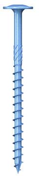 REISSER Holzbauschraube Q500 8,0x140mm Teilgewinde blau verzinkt 50 Stück im Paket Tellerkopf Schneidkerbe TX