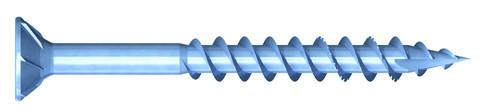 REISSER Spanplattenschraube DNS-Plus 6,0x100mm Teilgewinde blau verzinkt 100 Stück im Industriepaket Senkkopf TX