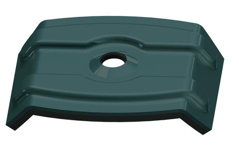 REISSER Kalotte W36/40 7,3x45 mm Alu 100St/Pak mit Dichtung für Trapezblech im Karton RAL 7016 Anthrazitgrau