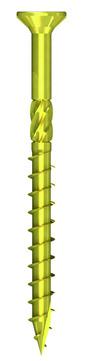 REISSER Holzbauschraube Q500 8,0x180mm Teilgewinde gelb verzinkt 50 Stück im Paket Flachsenkkopf Fräsrippen TX