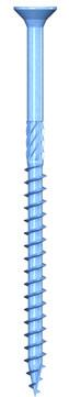 REISSER Holzbauschraube Q500 8,0x140mm Teilgewinde blau verzinkt 50 Stück im Paket Flachsenkkopf Fräsrippen TX