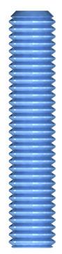 REISSER Gewindestange M 10 blau verzinkt DIN975 grün