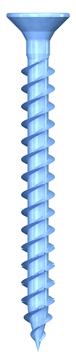 REISSER Spanplattenschraube DNS-Plus 4,5x35mm Doppel-/Vollgewinde blau verzinkt 200 Stück im Handelspaket Senkkopf TX