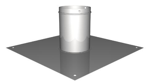 Polybit Nord Montage-Element 16 für Schornstein 160 mm für AirMaster/V-Master 16 Edelstahl V4A