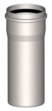 Polybit Nord Verlängerungsrohr 300 mm 125 mm Edelstahl V4A