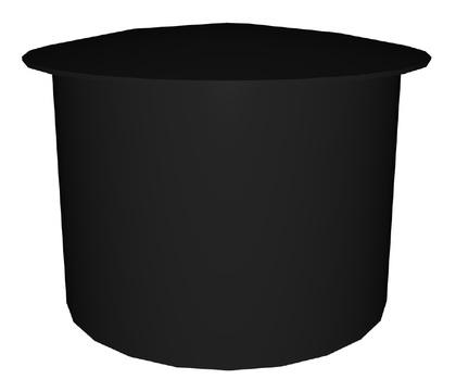 Polybit Nord Wetterhaube schlagregensicher 110 mm für Flachdachentlüfter PVC