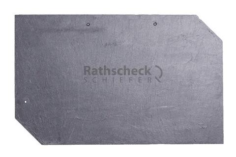 Rathscheck Schiefer Rechteck 50x30 cm links InterSin gelocht Grube 120
