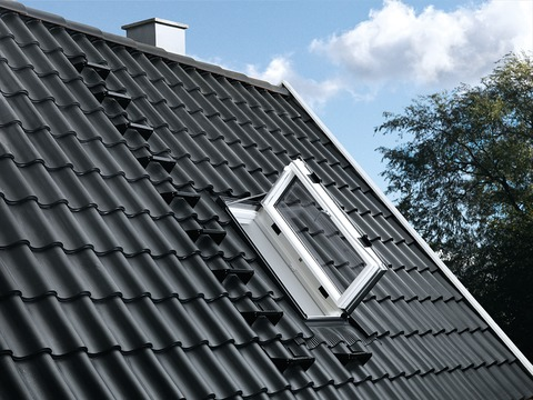 VELUX Wohn- und Ausstiegsfenster Holz GXU CK06 0066 55x118 cm Polyurethan Energy Plus Aluminium