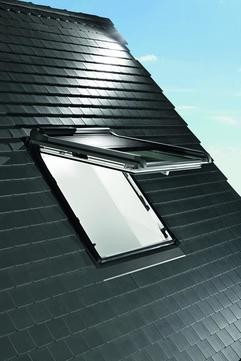 Roto Außenrollladen ZRO Solar Funk R8SR RT2 10/14 R703 Designo Anthrazitmetallic