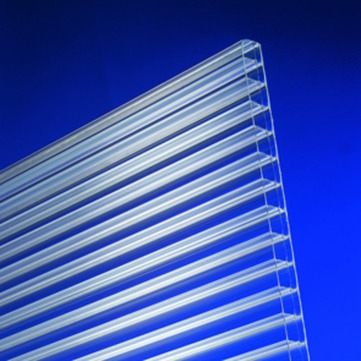 Scobalitwerk Hohlkammerplatte 16 mm 980x4000 mm Polycarbonat einseitig Oberflächenvergütung, Roofstar Klar