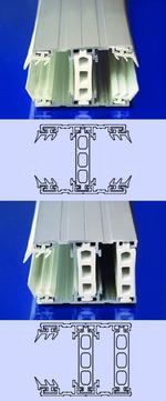 Scobalitwerk Thermoplus System Mitte 3000 mm 60 mm für 25 mm Plattenstärke Alu