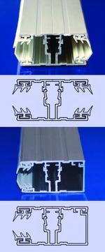 Scobalitwerk Schraubprofil mitte 4000 mm 60x35 mm für 16 mm Plattenstärke Alu